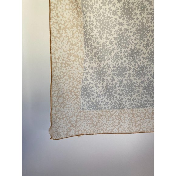 Grey and Taupe Floral Vintage Scarf